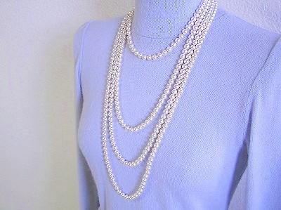 7mm珠70cm1連ネックレス
