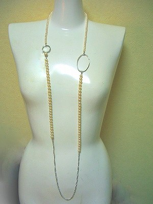 120cmロング マルチパール ネックレス