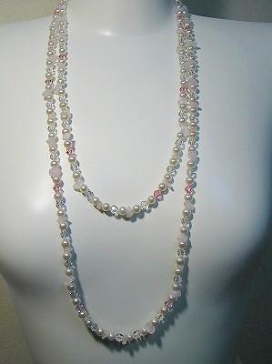 ピンクマルチ2連ネックレス