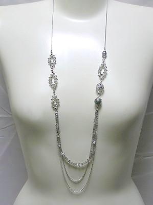 ブラックダイヤ/グレーパールロング
