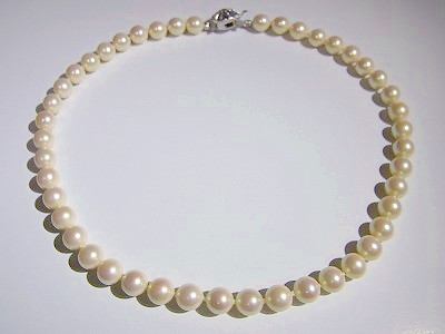珠結び8mm珠ネックレス